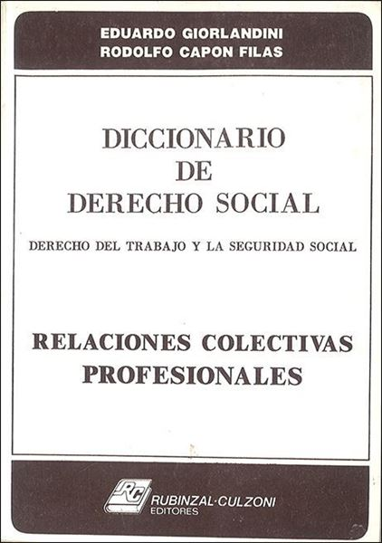 Picture of Diccionario de Derecho Social