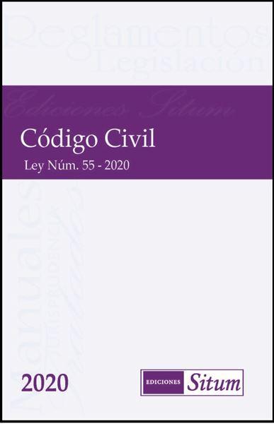 Picture of Código Civil de Puerto Rico 2020.  Ley 55-2020