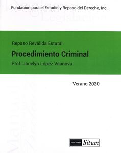 Picture of Manual Procedimiento Criminal Verano 2020. Repaso Reválida Estatal