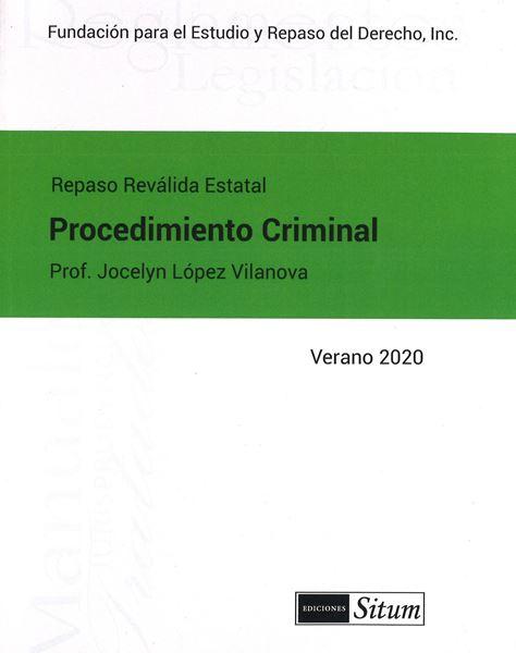 Picture of Manual Procedimiento Criminal Verano 2020. Repaso Reválida Estatal