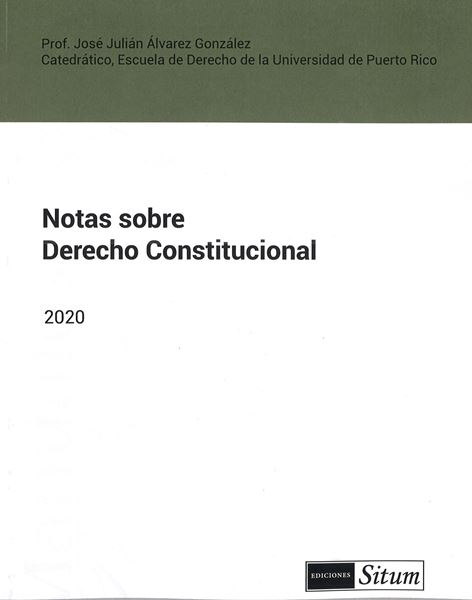 Picture of Notas sobre Derecho Constitucional 2020 / JJ Alvarez