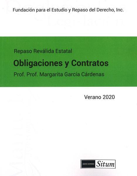Picture of Manual de Obligaciones y Contratos Verano 2020. Repaso Reválida Estatal