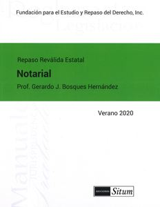 Picture of Manual Derecho Notarial  Verano 2020. Repaso Reválida Estatal