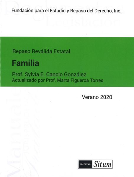 Picture of Manual de Familia Verano 2020. Repaso Reválida Estatal