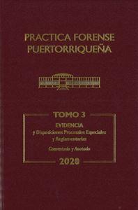 Picture of Reglas de Evidencia 2020 Tomo 3. Practica Forense Puertorriqueña