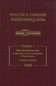 Picture of Reglas Procedimiento Civil 2020 Tomo I. Practica Forense Puertorriqueña