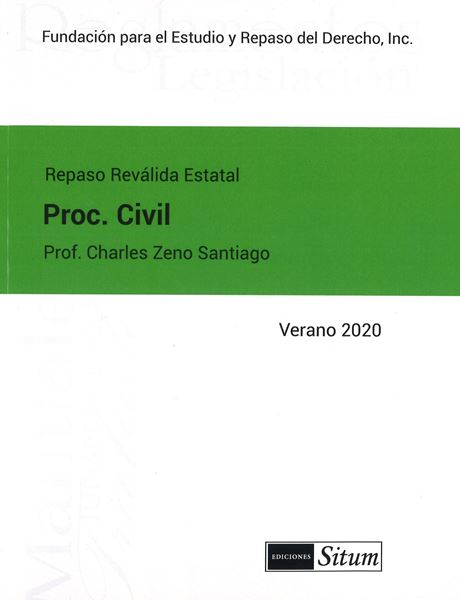 Picture of Manual Procedimiento Civil  Verano 2020. Repaso Reválida Estatal