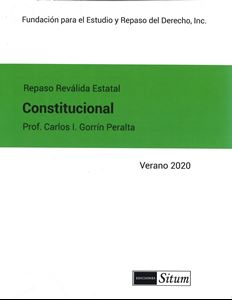 Picture of Manual Derecho Constitucional Verano 2020. Repaso Reválida Estatal