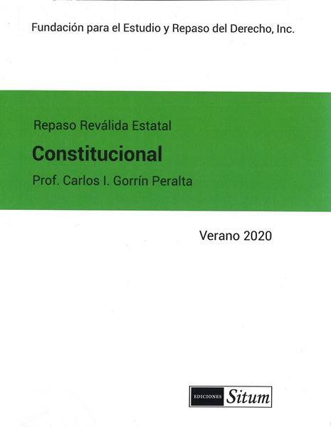 Picture of Manual Derecho Constitucional Verano 2020. Repaso Reválida Estatal