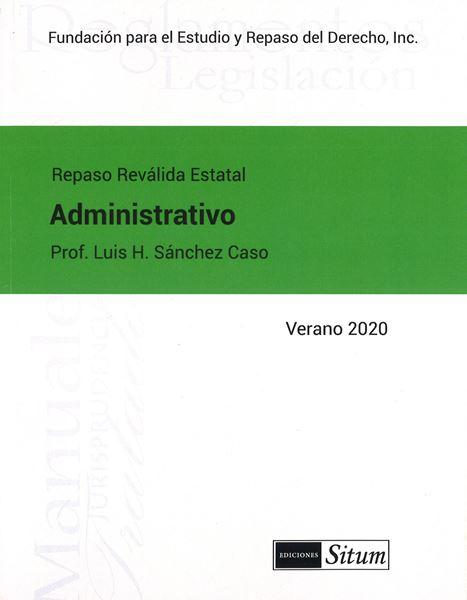 Picture of Manual Derecho Administrativo Verano 2020. Repaso Reválida Estatal