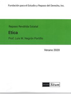 Picture of Manual de Etica Verano 2020. Repaso Reválida Estatal