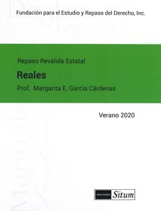 Picture of Manual Derechos Reales Verano 2020. Repaso Reválida Estatal