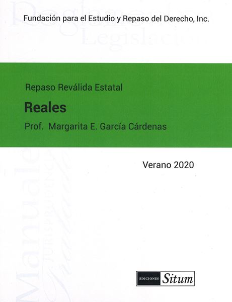 Picture of Manual Derechos Reales Verano 2020. Repaso Reválida Estatal