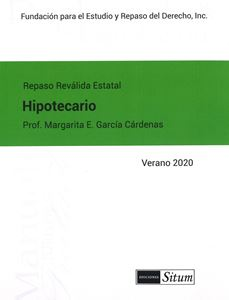 Picture of Manual de Hipotecario Verano 2020. Repaso Reválida Estatal