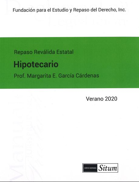 Picture of Manual de Hipotecario Verano 2020. Repaso Reválida Estatal