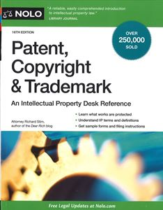Picture of Patent, Copyright & Trademark. An Intellectual Property Desk Reference. NOLO