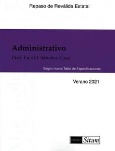 Picture of Manual Derecho Administrativo Verano 2021. Repaso Reválida Estatal