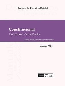 Picture of Manual Derecho Constitucional Verano 2021. Según nueva Tabla de Especificaciones