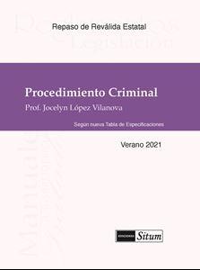 Picture of Manual Procedimiento Criminal Verano 2021. Repaso Reválida Estatal