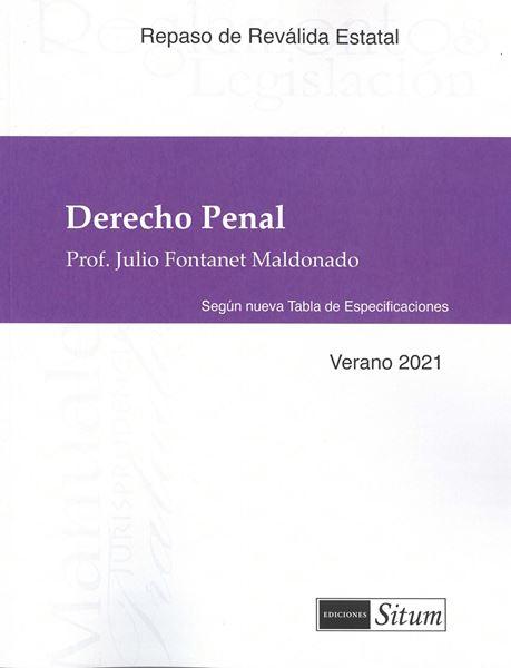Picture of Manual Derecho Penal Verano 2021. Repaso Reválida Estatal