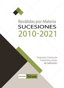 Picture of REVALIDAS POR MATERIA. SUCESIONES 2010-2021