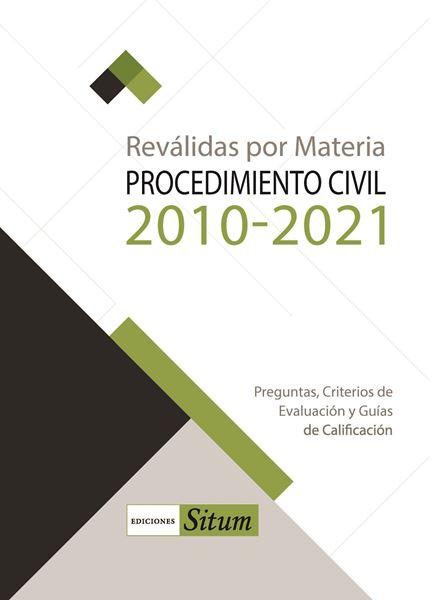 Picture of REVALIDAS POR MATERIA. PROCEDIMIENTO CIVIL 2010-2021