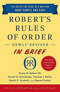 Picture of Robert's Rules of Order In Brief
