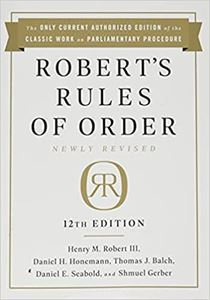 Picture of Robert's Rules of Order 12th